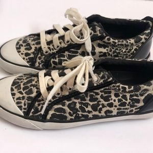 Coach Shoes Womens 7B Animal Print Barrett Sneaker